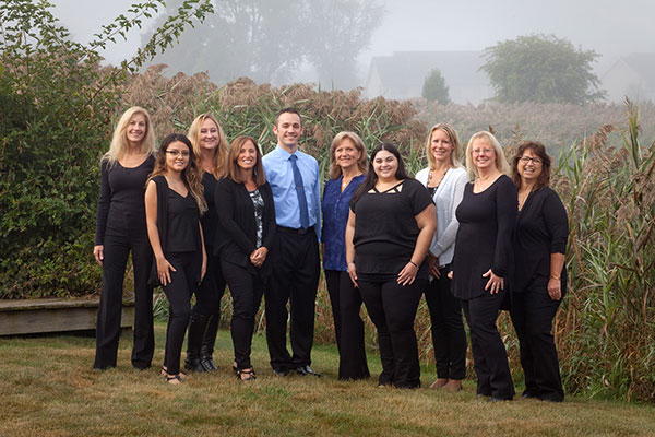 Dental staff at dentist office in Schererville, IN.